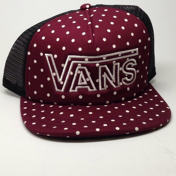 6ce006831fd NWT Vans Beach Girl Trucker Snapback Hat Red White